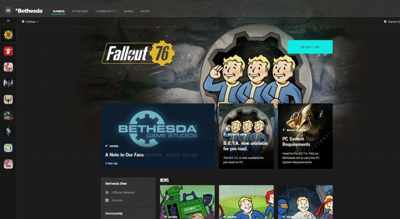 Fallout 76 Beta Goes Live Today