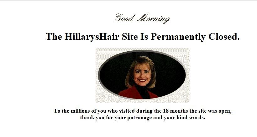 HillarysHair Closes