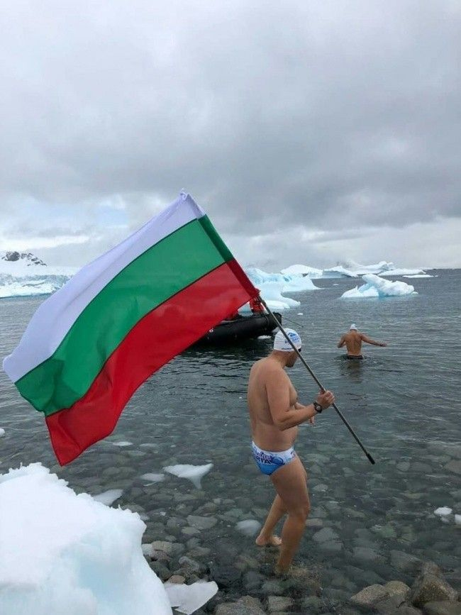 Petar Stoychev Became Champion In The Icy Waters Of Antarctica