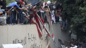 Muslims in Lybya and Egypt burn American flags
