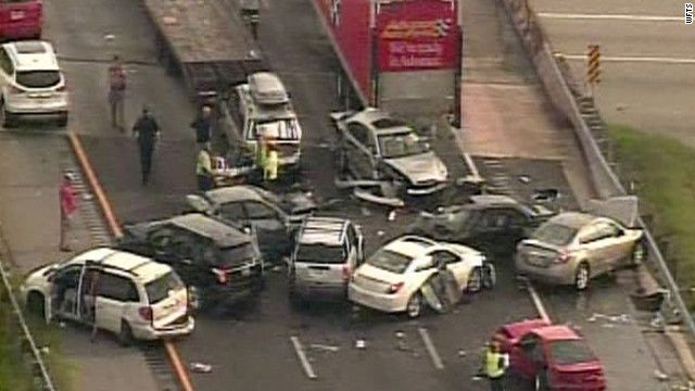 46 Vehicle Car Crash In Florida