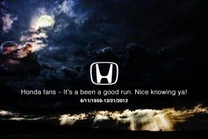 Honda admits 2012 is real