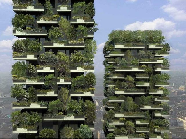 Plant-clad skyscrapers