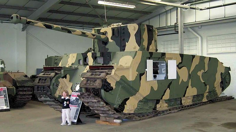 Tog II at bovington museum compared to human