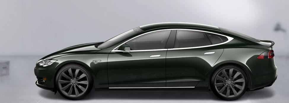 Tesla S type sedan