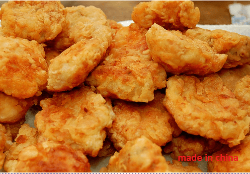 imported chicken nuggets