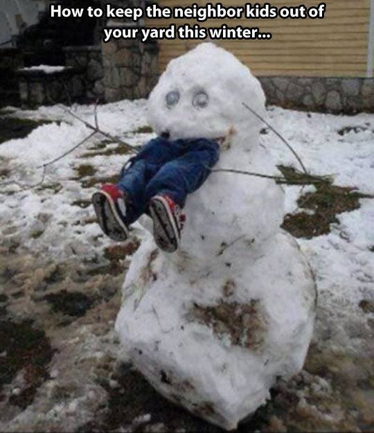 man eating snowman kills kid