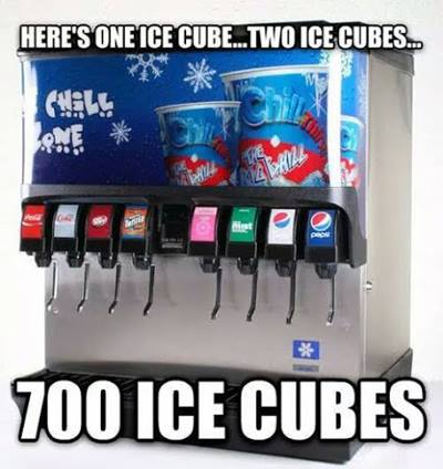 One ice cube two ice cubes 700 ice cubes more