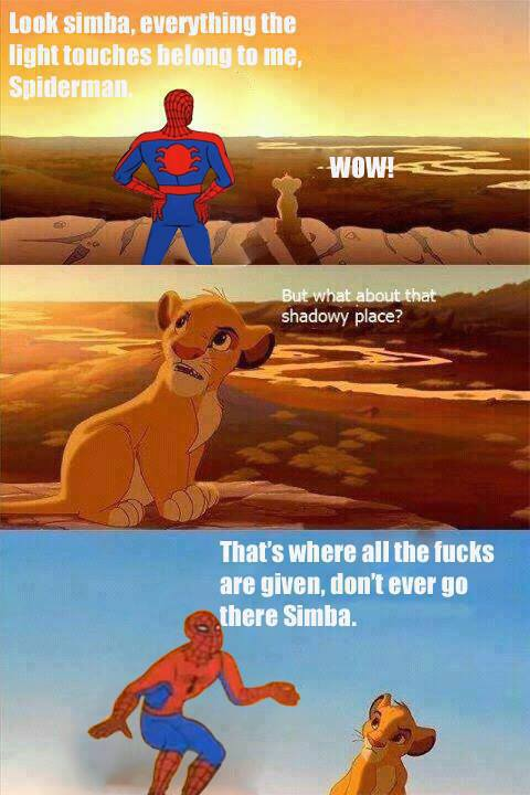 Simba and Spiderman