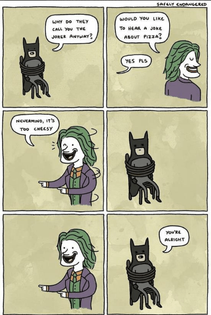 joker makes joke